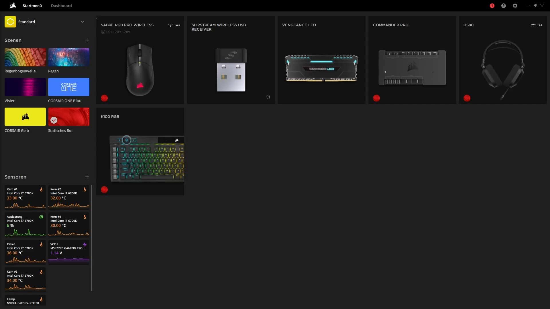 Corsair Sabre RGB Pro Wireless - iCUE