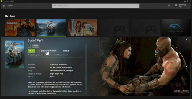 God of War Nvidia GeForce Now