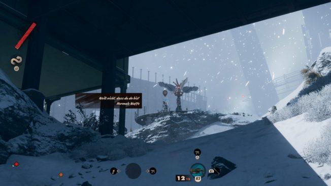 Deathloop Gameplay im Schnee