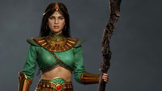 So sieht das Charaktermodell der Zauberin aus Diablo 2 Resurrected von Hossein Diba aus.